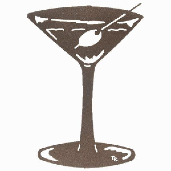 Martini Metal Wall Art With Martini Metal Wall Art (Image 11 of 20)