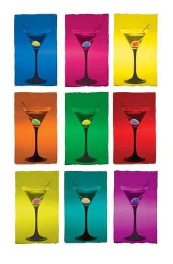 Martini Pop Art ~ Wall Poster – Martini Glasses Art Prints And In Martini Glass Wall Art (Image 13 of 20)