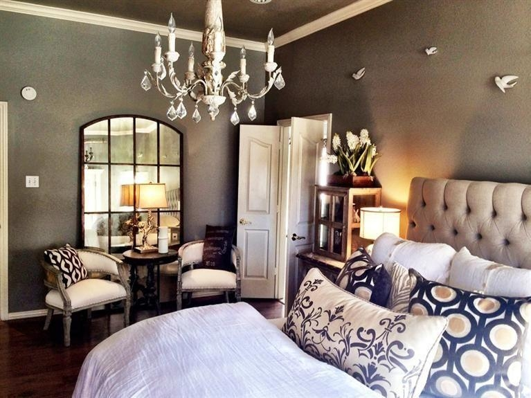 Master Bedroom With Crown Molding & Chandelier In Lubbock, Tx For Grandin Road Wall Art (View 2 of 16)