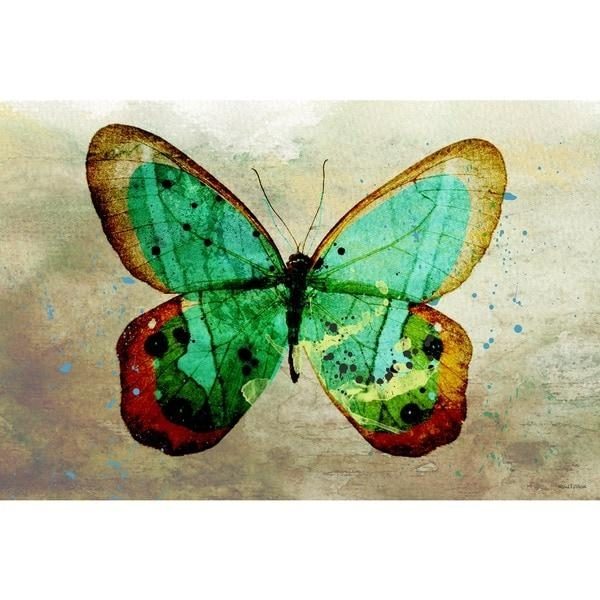 Maxwell Dickson 'butterfly' Wall Decor Canvas Art – Free Shipping For Butterfly Canvas Wall Art (Image 17 of 20)