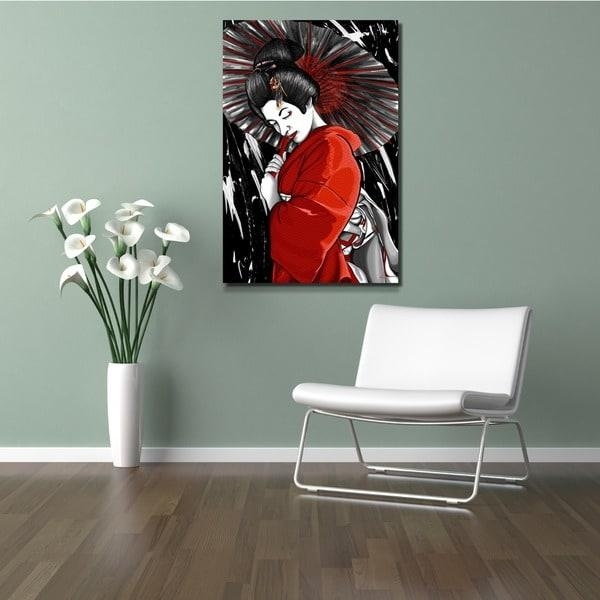 Maxwell Dickson 'geisha' Canvas Wall Art – Free Shipping Today For Geisha Canvas Wall Art (Image 10 of 20)