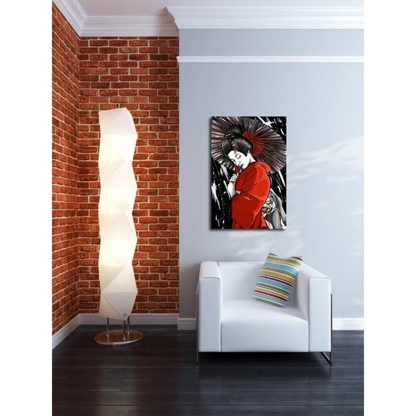 Maxwell Dickson 'geisha' Canvas Wall Art – Free Shipping Today For Geisha Canvas Wall Art (Image 11 of 20)