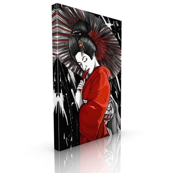 Maxwell Dickson 'geisha' Canvas Wall Art – Free Shipping Today For Geisha Canvas Wall Art (Image 9 of 20)
