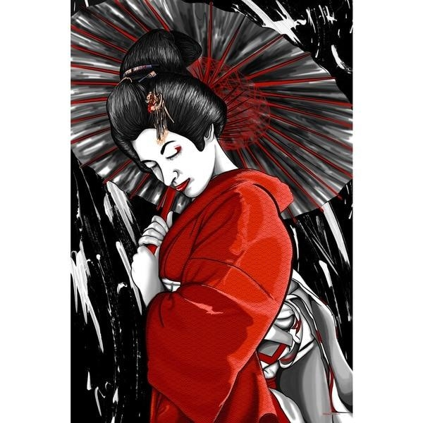 Maxwell Dickson 'geisha' Canvas Wall Art – Free Shipping Today Pertaining To Geisha Canvas Wall Art (Image 12 of 20)