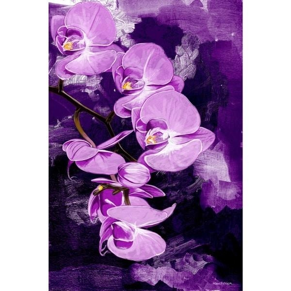 Maxwell Dickson 'purple Orchid' Canvas Wall Art – Free Shipping Intended For Purple Canvas Wall Art (Image 13 of 20)