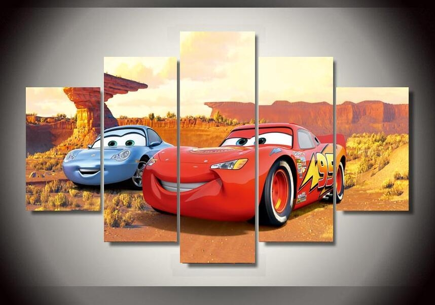 Mcqueen Cars Pictures Promotion Shop For Promotional Mcqueen Cars Intended For Lightning Mcqueen Wall Art (Image 17 of 20)