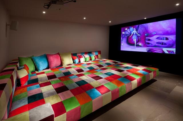 Media Room – Eclectic – Home Theater – Other  Elad Gonen With Giant Sofas (Image 16 of 20)