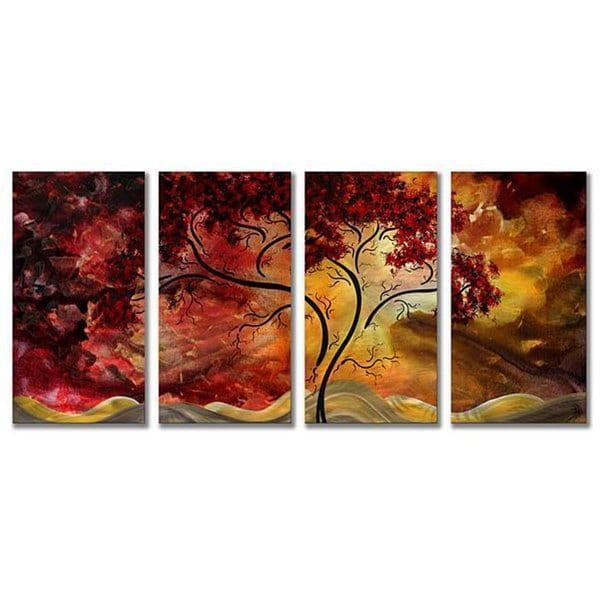 Megan Duncanson 'passionate Light' 4 Panel Metal Wall Art – Free Pertaining To Megan Duncanson Metal Wall Art (Image 14 of 20)