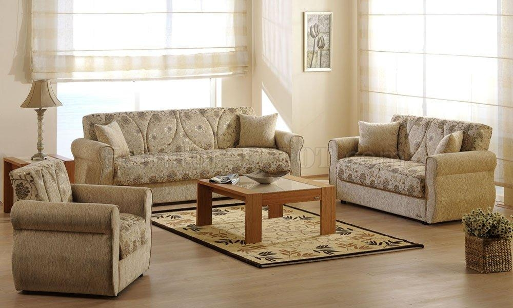 Melody Yasemin Sleeper Sofa In Beige Chenillesunset With Chenille Sleeper Sofas (Image 17 of 20)