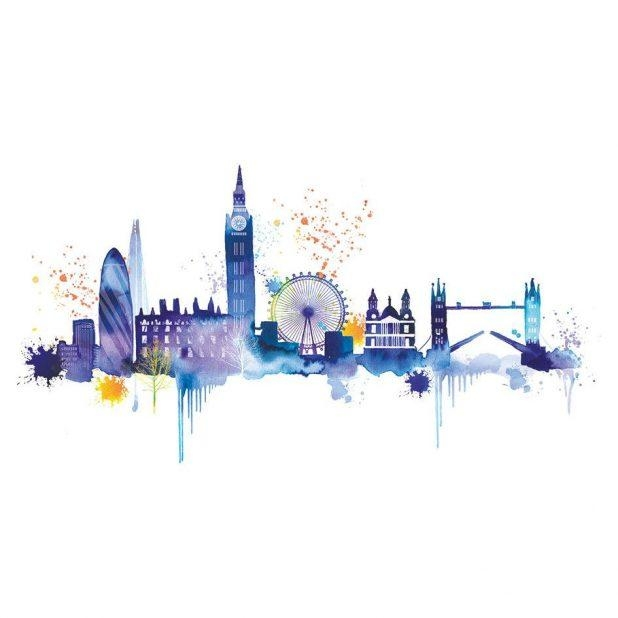 Mesmerizing London Wall Art Ebay Removable Vinyl Wall Stickers Within London Scene Wall Art (Image 9 of 20)
