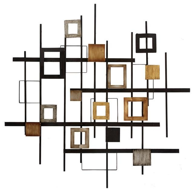 Metal Abstract Wall Decor – Contemporary – Wall Sculptures – Throughout Contemporary Wall Art (Image 15 of 20)