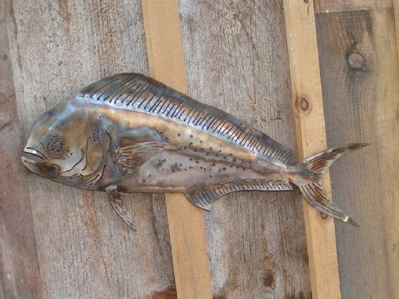 Metal Art, Old Iron Art Dolphin Fish With Regard To Stainless Steel Fish Wall Art (Image 14 of 20)