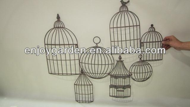 Metal Birdcage Wall Art, Metal Birdcage Wall Art Suppliers And Regarding Metal Birdcage Wall Art (View 11 of 20)