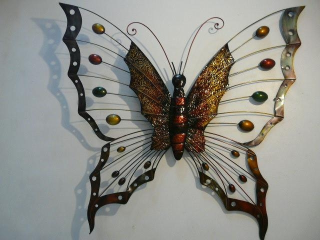 Metal Butterfly Wall Art Great Large Wall Art On Outdoor Metal In Large Metal Butterfly Wall Art (View 3 of 20)