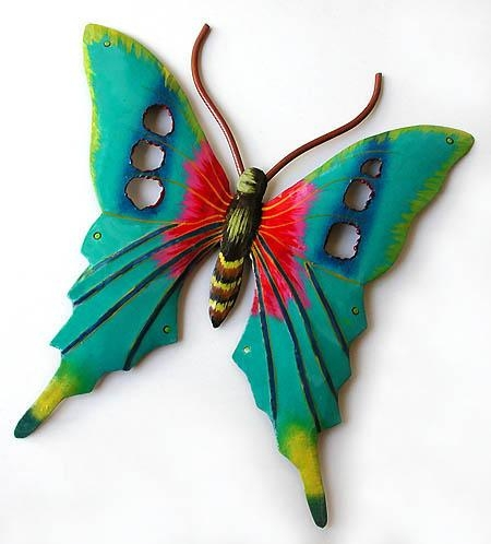 Metal Butterfly Wall Art | Roselawnlutheran In Large Metal Butterfly Wall Art (View 16 of 20)