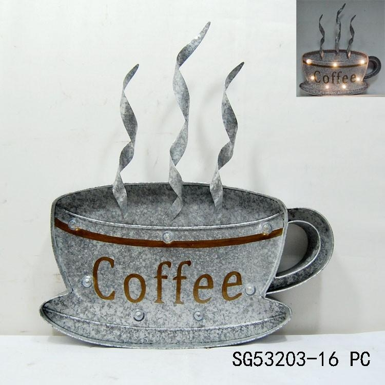 Metal Coffee Cup Wall Art, Metal Coffee Cup Wall Art Suppliers And With Regard To Metal Coffee Cup Wall Art (Image 15 of 20)