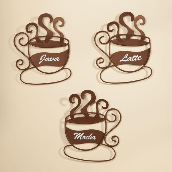 Metal Coffee Cup Wall Art, Set Of 3 – Metal Wall Art – Miles Kimball In Metal Coffee Cup Wall Art (Image 16 of 20)