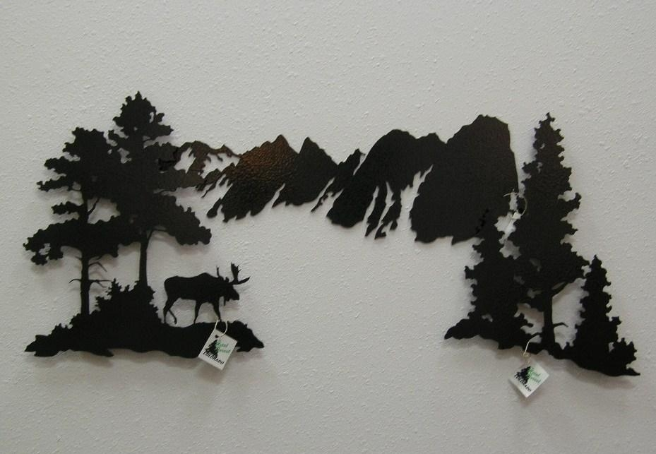 Metal Forest Metal Art Sets With Regard To Mountain Scene Metal Wall Art (Image 11 of 20)