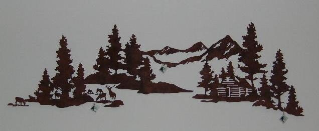 Metal Forest Metal Art Sets With Regard To Mountain Scene Metal Wall Art (Image 10 of 20)