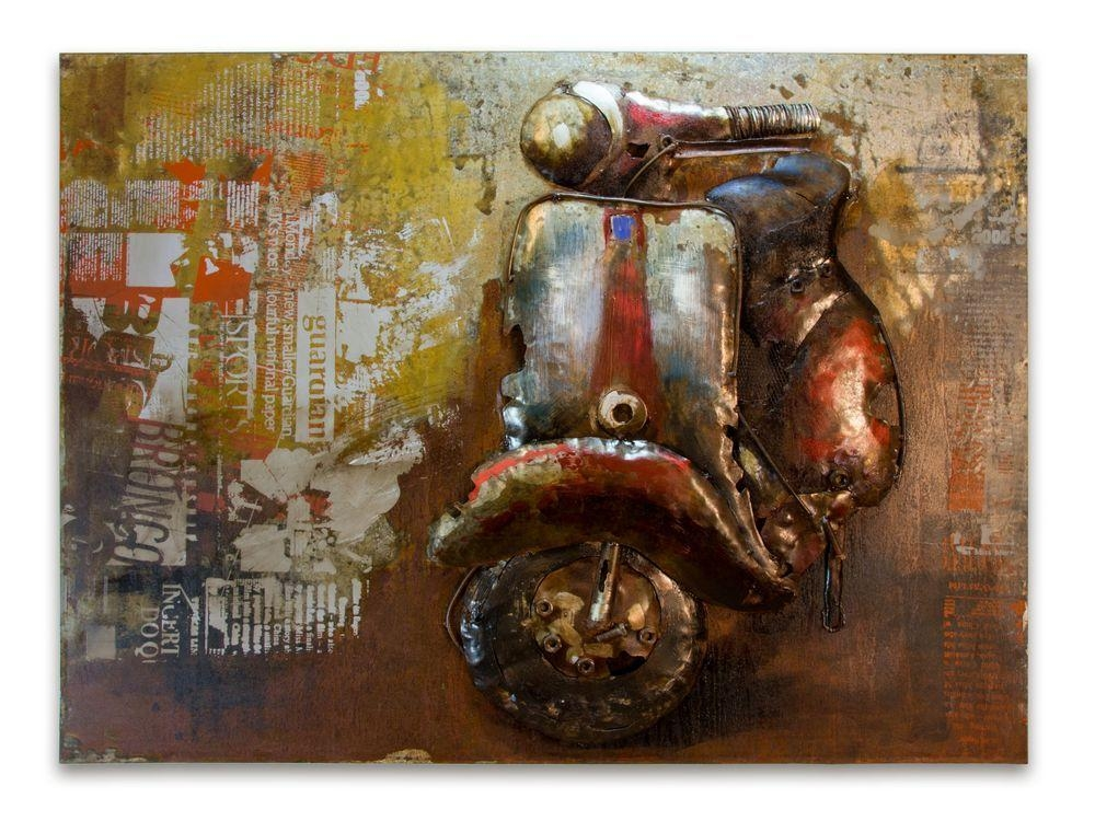 Metal Lambretta Picture | Abstract Scooter Wall Art For Italian Metal Wall Art (Image 13 of 20)