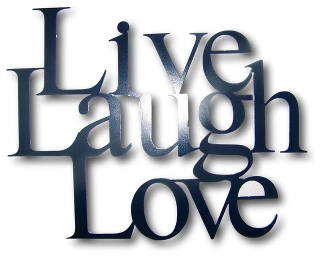 Metal Live Laugh Love Wall Hanging Decor 4 Sizes Available Inside Live Laugh Love Wall Art Metal (Image 19 of 20)