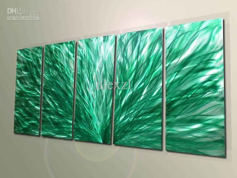 Metal Modern Abstract Wall Art Painting Sculpture Decor Original Throughout Abstract Wall Art (Image 14 of 20)