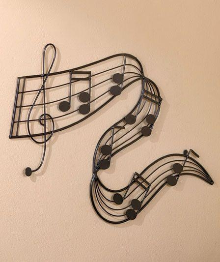Metal Note Bar Music Wall Art For Music Lovers Home Decor 26 3/4 With Regard To Metal Music Wall Art (Image 9 of 20)