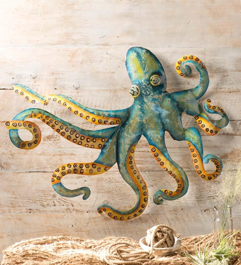 Metal Octopus Wall Art | Metal Wall Art | Wind & Weather In Seaside Metal Wall Art (Image 13 of 20)