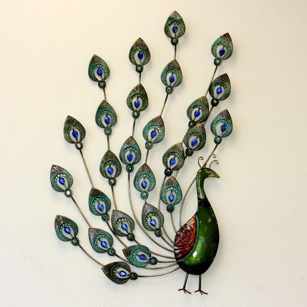 Metal Peacock Wall Art | Harry Corry Limited With Regard To Metal Peacock Wall Art (View 11 of 20)