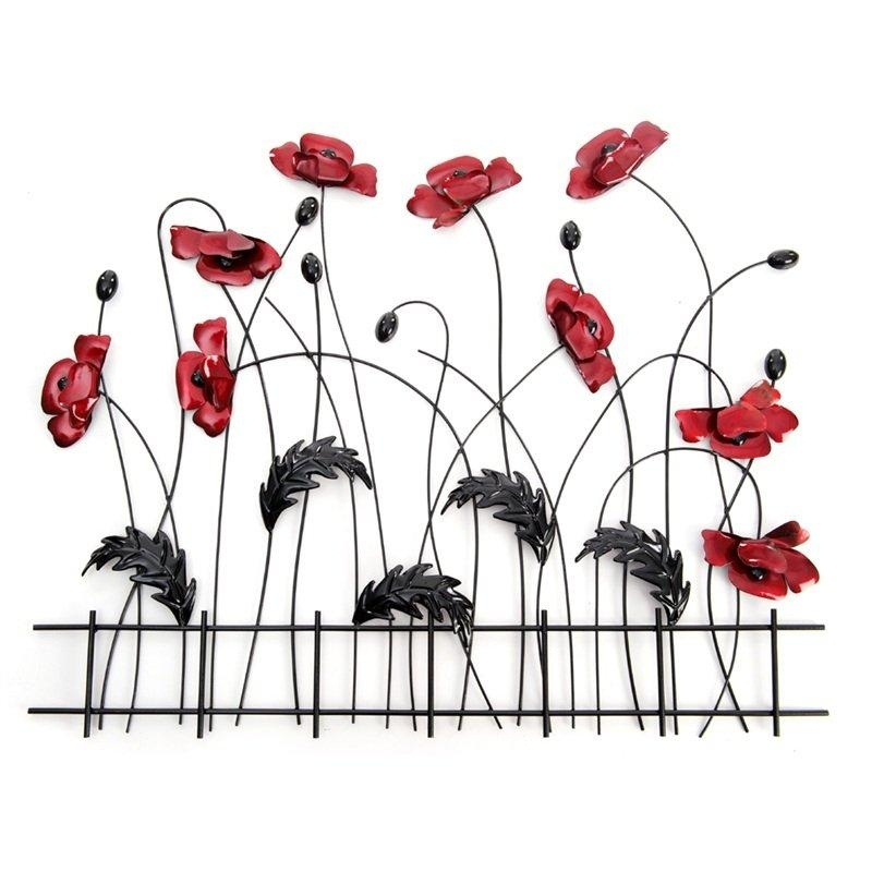 Metal Poppy Wall Art | Metal Wall Art | Contemporary Art Range With Regard To Metal Poppy Wall Art (View 20 of 20)