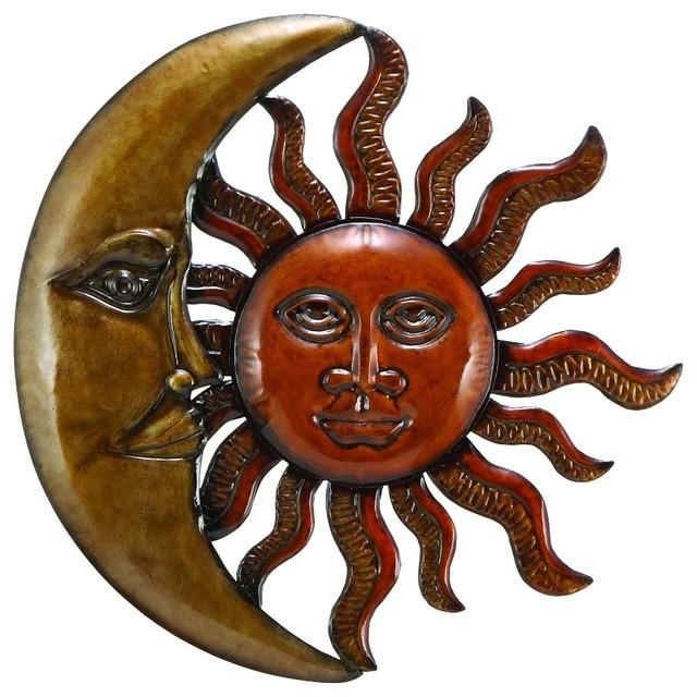 Metal Sun Moon Wall Decor Discounted Wall Art – Southwestern For Southwest Metal Wall Art (View 17 of 20)