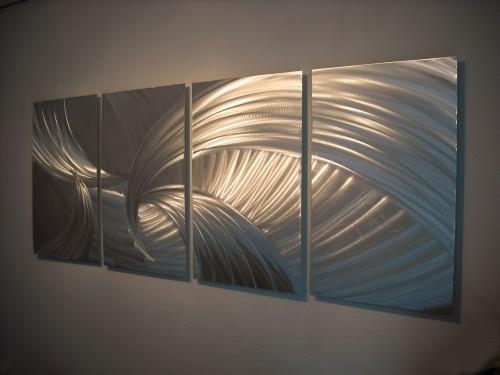 Metal Wall Art Abstract Contemporary Modern Decor Sculpture In Metal Wall Art (View 15 of 20)