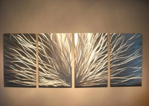Metal Wall Art Abstract Contemporary Modern Decor Sculpture Pertaining To Big Metal Wall Art (View 15 of 20)