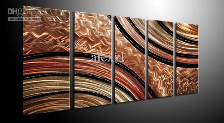 Metal Wall Art Abstract Contemporary Sculpture Home Decor Modern Inside Modern Oversized Wall Art (Image 8 of 20)
