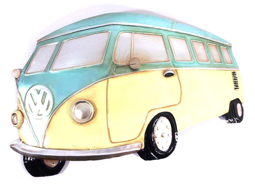 Metal Wall Art – Aqua Vw Campervan Intended For Campervan Metal Wall Art (View 5 of 20)