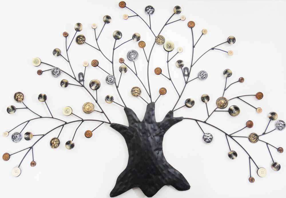 Metal Wall Art – Autumn Button Oak Tree In Oak Tree Metal Wall Art (View 6 of 20)