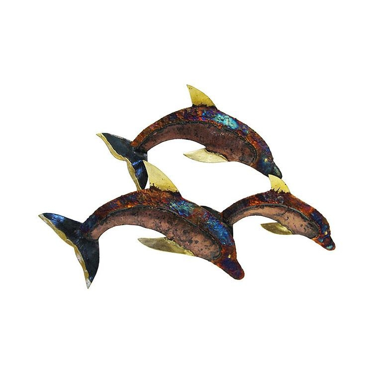Metal Wall Art Collection – Jumping Dolphin – Mwa17 Throughout Dolphin Metal Wall Art (Image 16 of 20)
