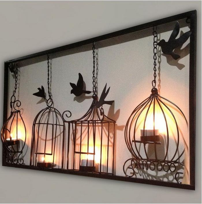 Metal Wall Art Decor: 15 Artistic Marvelous Ideas – Home Loof Throughout Metal Birdcage Wall Art (View 15 of 20)