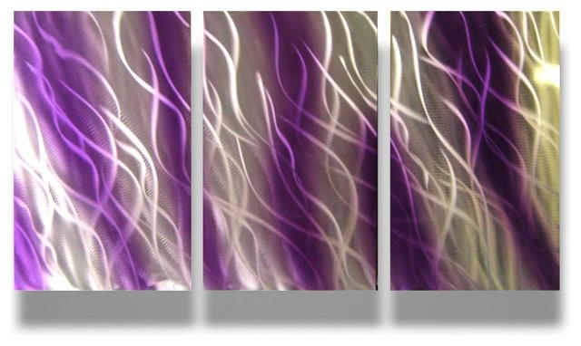 Metal Wall Art Decor Abstract Contemporary Modern Sculpture With Purple Abstract Wall Art (View 11 of 20)