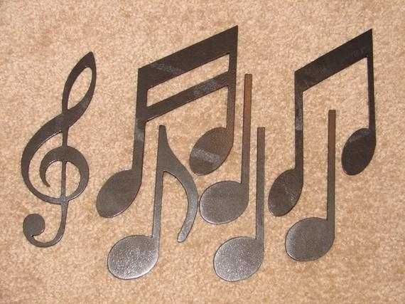 Metal Wall Art Decor Music Notes Musical Note Patio Regarding Music Note Wall Art (View 6 of 20)