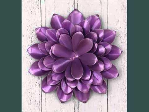 Metal Wall Art Flowers Uk | Decoration Ideas – Youtube Within Purple Flower Metal Wall Art (Image 11 of 20)