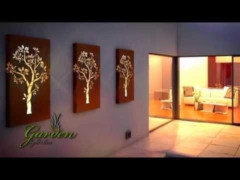 Metal Wall Art, Garden Light Box – Youtube For Wall Art With Lights (Image 13 of 20)