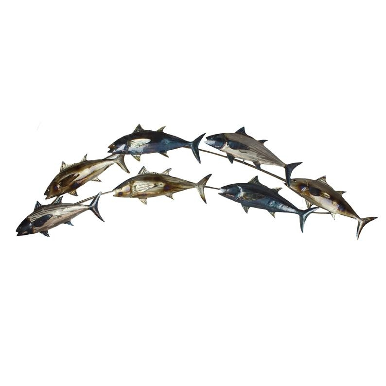 Metal Wall Art Intended For Shoal Of Fish Metal Wall Art (Image 13 of 20)
