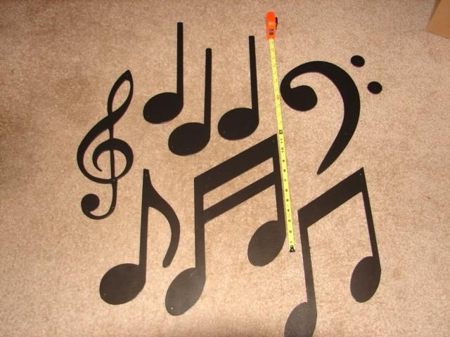Metal Wall Art Music Note Decor Musical Large Set Home Patio In Metal Music Wall Art (Image 12 of 20)