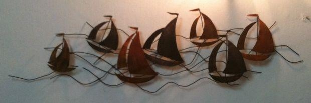 Metal Wall Art – Sailing Boats: 4 Steps (With Pictures) With Metal Sailboat Wall Art (Image 8 of 20)