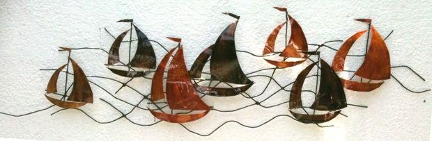 Metal Wall Art – Sailing Boats: 4 Steps (With Pictures) With Metal Sailboat Wall Art (Image 7 of 20)