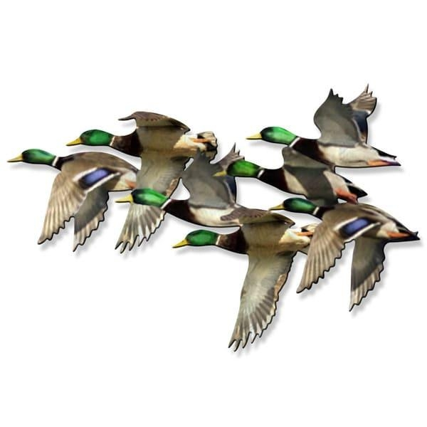 Metal Wall Art 'string Of Mallards' Ash Carl – Free Shipping Today Inside Ash Carl Metal Wall Art (Image 16 of 20)