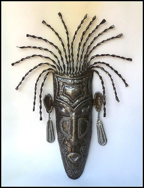 Metal Wall Hanging Haitian Ethnic Maskafrican Tribal Mask For African Metal Wall Art (Image 17 of 20)