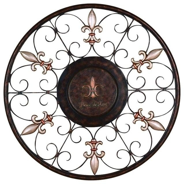 Metal Wall Plaque – Mediterranean – Metal Wall Art  Brimfield With Regard To Fleur De Lis Metal Wall Art (Image 16 of 20)