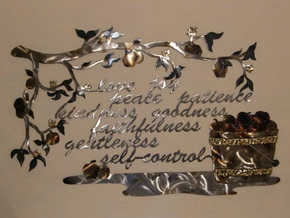 Metal Wall Sculpture Of Fruit Of The Spirit With Regard To Fruit Of The Spirit Wall Art (Image 19 of 20)